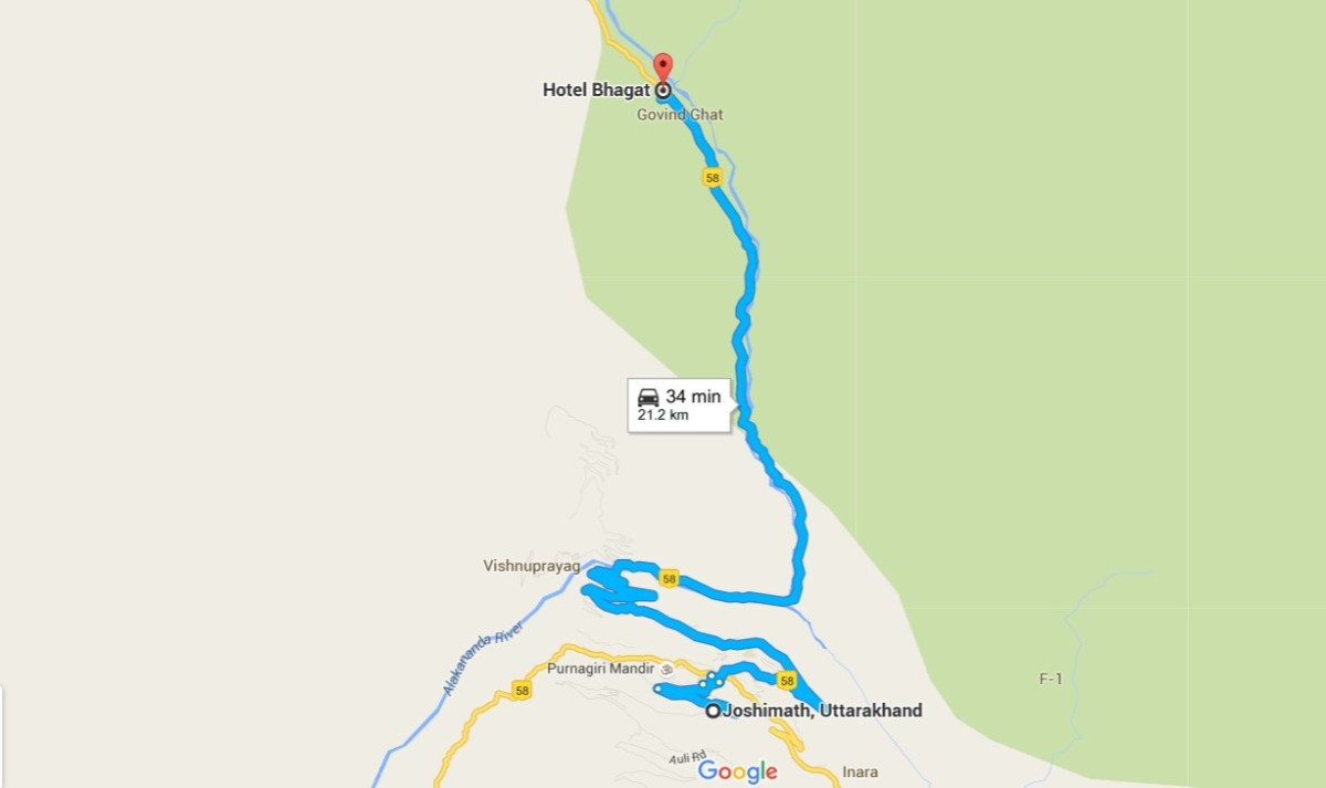 map of govindghat