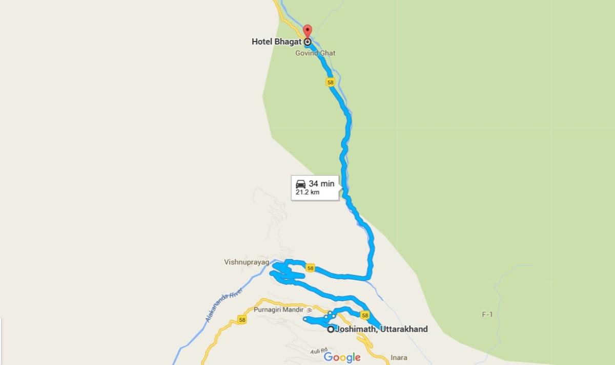 map of govindghat